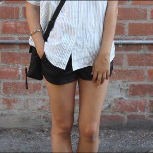 (2) H&M Faux Leather Shorts